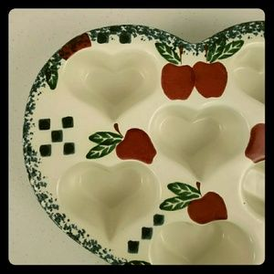 Chaparral Stoneware Collectible Muffin Heart Shape